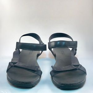 Reaction | Black Velcro Sport Sandals